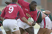 Leicester, Welford Road, Leicestershire, 30/09/2001, Martyn Madden,  during the,  Heineken Cup, match, Leicester Tigers vs Llanelli, Heineken Cup,<br /> [Mandatory Credit: Peter Spurrier/Intersport Images],<br /> Leicester Tigers v Llanelli Euro Cup  <br /> 29/9/01