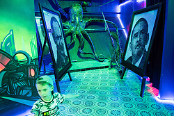 July 13, 2018 - Moscow, Russia - 180713 A picture of Russia president Vladimir Putin and former president of USA Barack Obama beside a octopus inside the museum Muzey Vosstaniya Mashin during the FIFA World Cup on July 13, 2018 in Moscow..Photo: Petter Arvidson / BILDBYRN / kod PA / 92086 (Credit Image: © Petter Arvidson/Bildbyran via ZUMA Press)