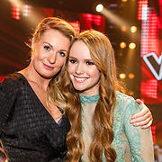 NLD/Hilversum//20170218 - Finale The Voice of Holland 2017, coach Sanne Hans en Isabel Provoost