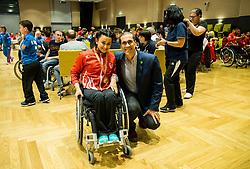 Award ceremony at Day 4 of 15th Slovenia Open - Thermana Lasko 2018 Table Tennis for the Disabled, on May 12, 2018, in Dvorana Tri Lilije, Lasko, Slovenia. Photo by Vid Ponikvar / Sportida