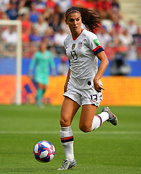 USA's Alex Morganduring the 2019 FIFA Women's World Cup Round Of 16 match Spain v USA at Stade Auguste Delaune on June 24, 2019 in Reims, France. USA won 2-1 reaching the quarter-finals. Photo by Christian Liewig/ABACAPRESS.COM