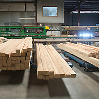 Mount Taylor Millwork, Inc., has a reserve of lumber from the 2015 harvesting season that is stacked on the floor of the sawmill and outside.