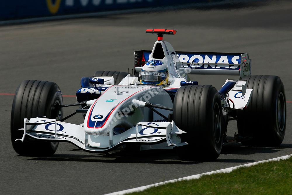 Nick Heidfeld (BMW) in the 2006 British Grand Prix at Silverstone. Photo: Grand Prix Photo