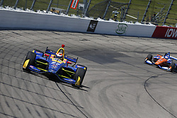 July 8, 2018 - Newton, Iowa, United States of America - ALEXANDER ROSSI (27) of the United States battles for position during the Iowa Corn 300 at Iowa Speedway in Newton, Iowa. (Credit Image: © Justin R. Noe Asp Inc/ASP via ZUMA Wire)