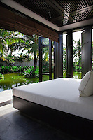 The world class spa at the Nam Hai is located around a picturesque pond.