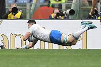 Try of Sebastian Negri Italy<br /> Roma 17-03-2018, Stadio Olimpico<br /> Rugby 6 Nations Tournament <br /> Italia - Scozia / Italy - Scotland<br /> <br /> Foto Antonietta Baldassarre Insidefoto