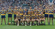 All Ireland Senior Hurling Championship Final,.08.09.2002, 09.08.2002, 8th September 2002,.Senior Kilkenny 2-20, Clare 0-19,.Minor Kilkenny 3-15, Tipperary 1-7,.8092002AISHCF,.Vodafone, .Clare, back row from left, Colin Lynch, Tony Griffin, Tony Carmody, Gerry Quinn, David Fitzgerald, John Reddon, David Hoey, Alan Markham, Frank Lahan, Sean McMahon, .Front row, Brian Lahan, James O'Connor, David Forde, Brian Quinn, Niall Gilligan,