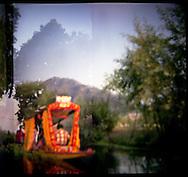 Landscape of Dal Lake Kashmir India.