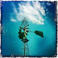 Windmill in the sky Sonoma, California.