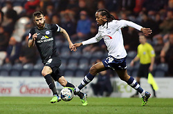 Peterborough United's Jack Payne in action with Preston North End's Daniel Johnson - Photo mandatory by-line: Joe Dent/JMP - Mobile: 07966 386802 - 17/03/2015 - SPORT - Football - Preston - Deepdale - Preston North End v Peterborough United - Sky Bet League One
