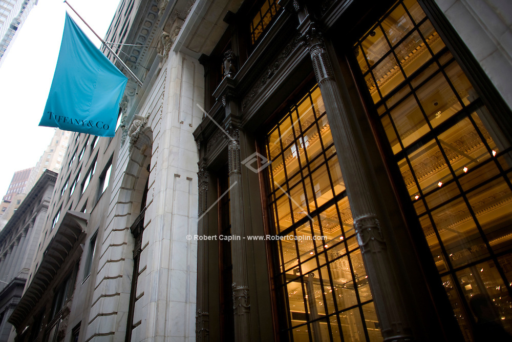 The exterior of the new Wall Street Tiffany & Co. Oct. 10, 2007 the day Tiffany & Co. went public and for the opening of their new Wall Street store in New York.