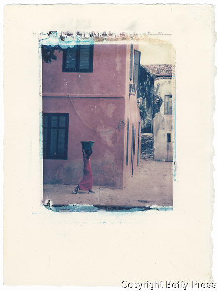 Woman fetching water.<br /> Image size 4x5, Matted 12x10 Edition of 25 <br /> Archival Pigment Print