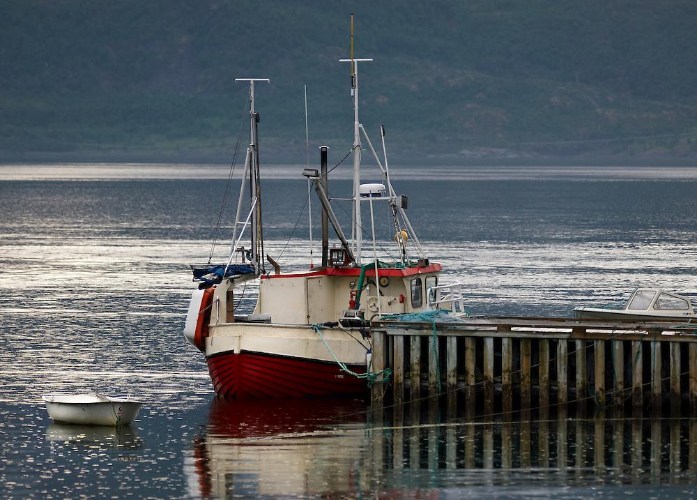 Norway - Boat in Øksfjordbotn