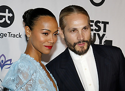 Eva Longoria Foundation Dinner Gala held at the Four Seasons Hotel in Beverly Hills. 08 Nov 2018 Pictured: Zoe Saldana and Marco Perego Saldana. Photo credit: Lumeimages / MEGA TheMegaAgency.com +1 888 505 6342