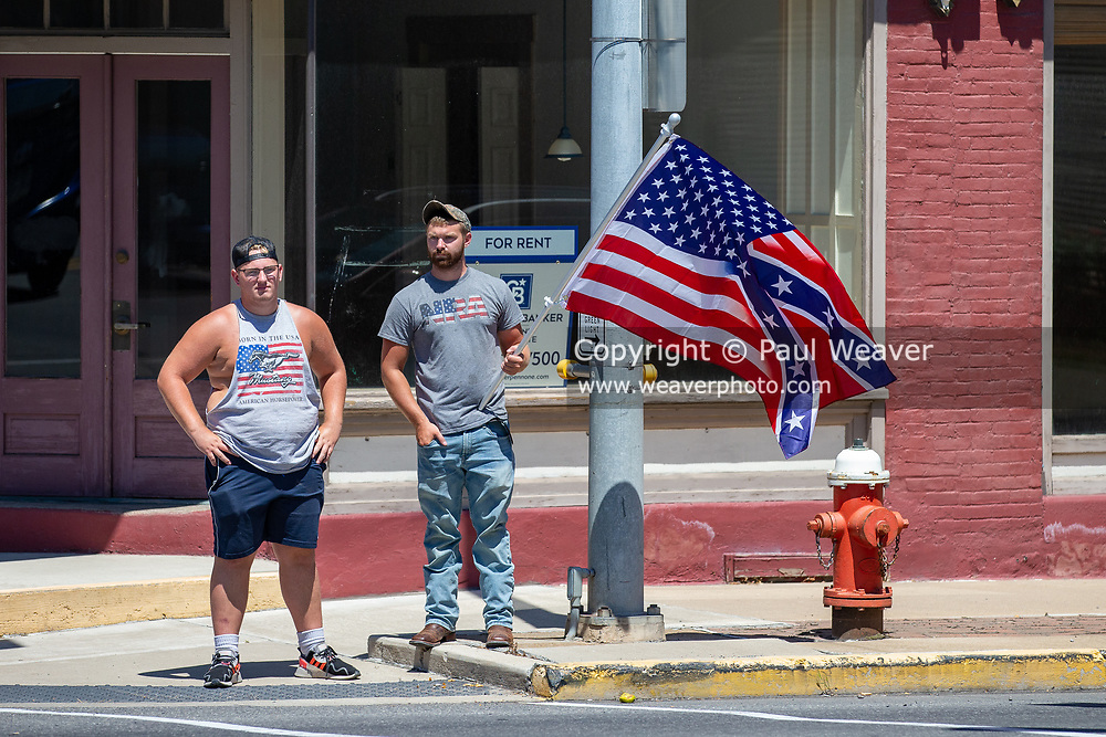 Counter protesters arrived an hour early to claim all four corners of 4th and Chestnut Streets for the Mifflinburg Pride Event.