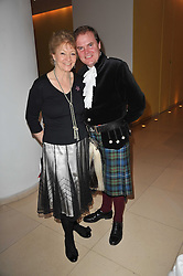 HANNAH TILLER and LORD DALMENY at a Burns Night dinner in aid of cancer charity CLIC Sargent held at St.Martin's Lane Hotel, London on 25th January 2011.