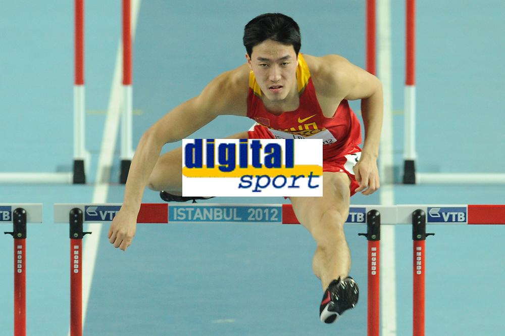 ATHLETICS - WORLD CHAMPIONSHIPS INDOOR 2012 - ISTANBUL (TUR) 09 to 11/03/2012 - PHOTO : STEPHANE KEMPINAIRE / KMSP / DPPI - <br /> 60 M HURDLES - MEN - ROUND 1 - LIU XIANG (CHN)