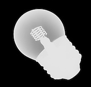 An x ray of a neon light bulb.  THis type of bulb is often used for spectrum experiments.