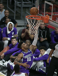 October 12, 2017 - Los Angeles, California, U.S - Frank Mason III #10 of the Sacramento Kings goes for a layup during their preseason game against the Los Angeles Clippers on Thursday October 12, 2017 at the Galen Center in USC in Los Angeles, California. Clippers defeat Kings, 104-87. (Credit Image: © Prensa Internacional via ZUMA Wire)