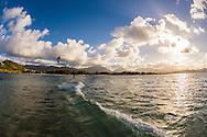 Kitesurfing in Kailua Bay, Oahu, Hawaii