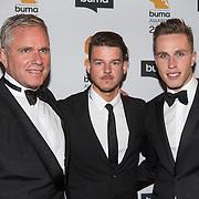 NLD/Hilversum//20140318 - Inloop Buma Awards 2014, Dj Nicky Romero en zijn vader