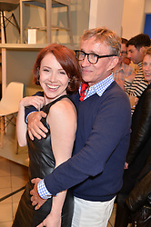 Actress DAISY LEWIS and JASPER CONRAN at the launch of A Season In France hosted by Jasper Conran at The Conran Shop, 81 Fulham Road, London on 1st May 2014.