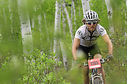 SHOT 6/5/10 1:00:41 PM - Bucky Schafer of Charlottesville, Va. makes his way through the course during the Men's Pro X-Country Mountain Bike Race at the Teva Mountain Games in Vail, Co. The games attract some of the world's best extreme athletes to compete in kayaking, climbing, mountain bike racing, freeride, big air, trail and road running and dog competitions. (Photo by Marc Piscotty / © 2010)