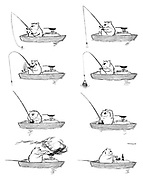 (Max in a boat on a fishing expedition)