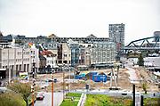 Nederland, nijmegen, 8-12-2018De Waalkade is weer toe aan een reconstructie, herinrichting. Het plan is meer groen en meer ruimte voor recreatie en voetgangers. De auto zal niet meer terugkomen.Foto: Flip Franssen