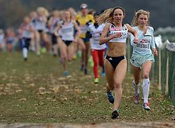 08-12-2013 ATHLETICS: SPAR EC CROSS COUNTRY: BELGRADE<br /> Marusa Mismas of Slovenia wint de bronzen medaille. Links de winnares Emelia Gorecka GBR<br /> Foto: Ronald Hoogendoorn / Sportida