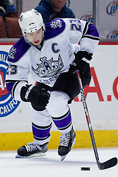 Dustin Brown (Los Angeles Kings, #23) during ice-hockey match between Anaheim Ducks and Los Angeles Kings in NHL league, Februar 23, 2011 at Honda Center, Anaheim, USA. (Photo By Matic Klansek Velej / Sportida.com)