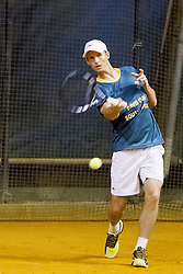 Rik De Voest during practice session before Davis Cup between National team of Slovenia and JAR on September 9, 2013 in Sports center Dolgi most, Ljubljana, Slovenia. (Photo By Urban Urbanc / Sportida)