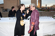 SALLY ANNE LASSON; LYNN BARBER, Opening of Love is what you want. Exhibition of work by Tracey Emin. Hayward Gallery. Southbank Centre. London. 16 May 2011. <br /> <br />  , -DO NOT ARCHIVE-© Copyright Photograph by Dafydd Jones. 248 Clapham Rd. London SW9 0PZ. Tel 0207 820 0771. www.dafjones.com.