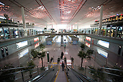 Inside Terminal Three of Beijing Capital International Airport, China