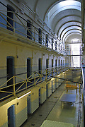 An empty E wing at Wandsworth prison in London. It was emptied of prisoners in 2005 so it could be refurbished..HMP Wandsworth in South West London was built in 1851 and is one of the largest prisons in Western Europe. It has a capacity of 1456 prisoners.