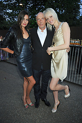 Left to right, ZARA SIMON, PETER SIMON and LIUDA BAKHMA at the annual Serpentine Gallery Summer Party sponsored by Canvas TV  the new global arts TV network, held at the Serpentine Gallery, Kensington Gardens, London on 9th July 2009.