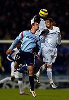 Photo: Jed Wee.<br /> Bolton Wanderers v Sevilla. UEFA Cup. 14/12/2005.<br /> <br /> The combined efforts of Bolton's Khalilou Fadiga (C) and Hidetoshi Nakata (R) deny Sevilla's Kepa.