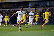 Ivan Toney of Peterborough United on the attack during the EFL Sky Bet League 1 match between Oxford United and Peterborough United at the Kassam Stadium, Oxford, England on 16 February 2019.