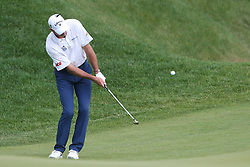 June 21, 2018 - Cromwell, Connecticut, United States - CROMWELL, CT-JUNE 21: Jim Furyk chips on to the 15th green during the first round of the Travelers Championship on June 21, 2018 at TPC River Highlands in Cromwell, Connecticut. (Credit Image: © Debby Wong via ZUMA Wire)