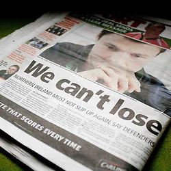 20110329: Northern Ireland, Football - EURO 2012 Qualifications, Newspaper Belfast Telegraph