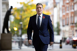 © Licensed to London News Pictures. 01/11/2020. London, UK. Labour Party Leader Sir Keir Starmer arrives at the BBC. Later he will appear on the Andrew Marr Show. Photo credit: George Cracknell Wright/LNP