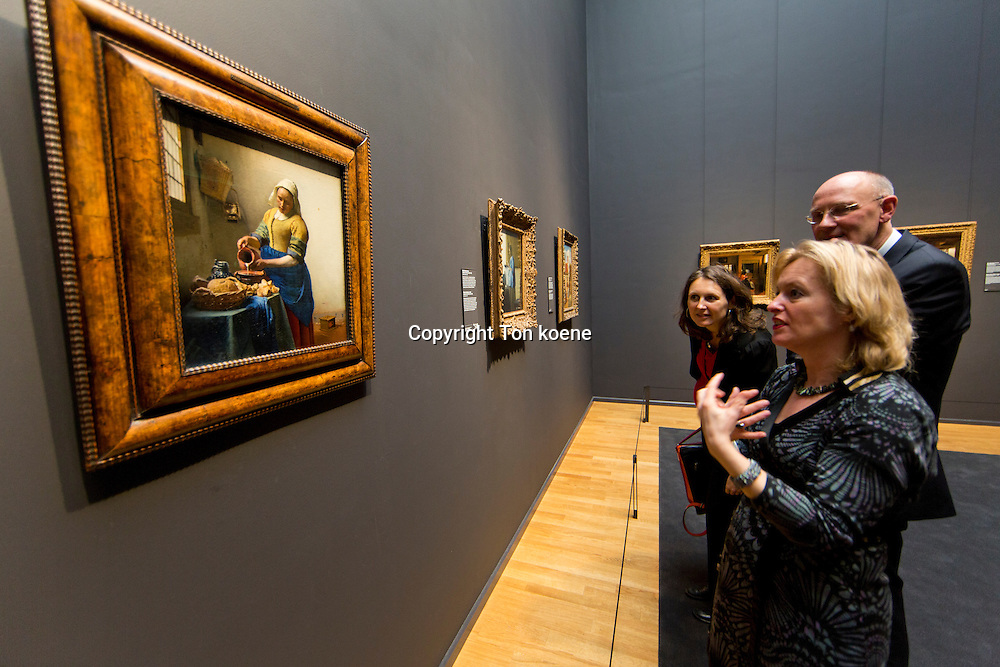 dutch minister of education, culture and sience: Jet Bussemaker at the opening of the rijksmuseum in amsterdam