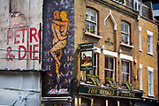 Located at the quiet end of Curtain Road, bordering The City and now cool Shoreditch, is the charming Horse and Groom pub and nightclub in London, United Kingdom. It started in the 1800s but is now surrounded by demolition and major redevelopment.
