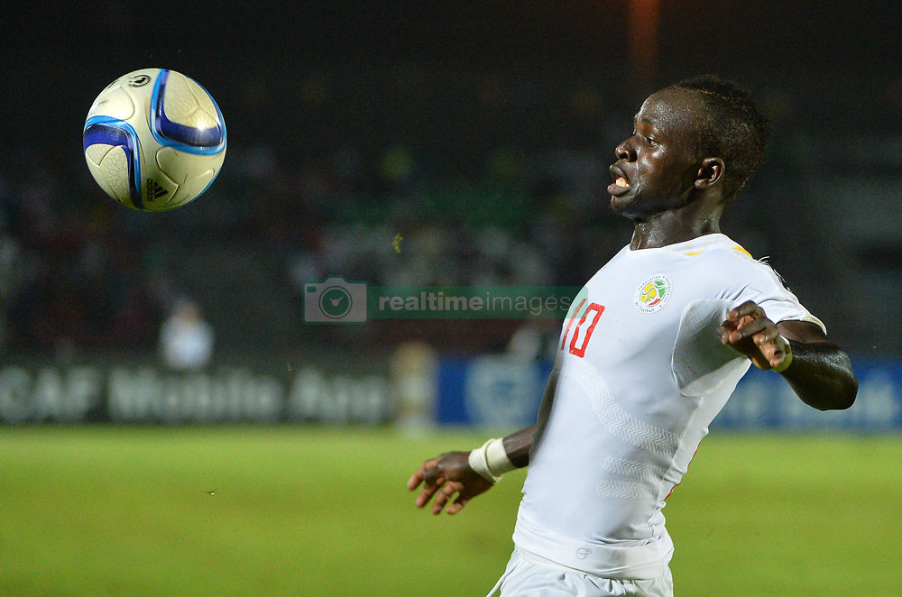 Senegal 's  Sadio Mane during the 2015 Orange Africa Cup of Nations Final soccer match, South AfricaVs Senegal at Mongomo stadium in Mongomo, Equatorial Guinea on January 23 2015. Photo by Christian Liewig/ABACAPRESS.COM  | 484851_028 Mongomo Guinée Équatoriale Equatorial Guinea