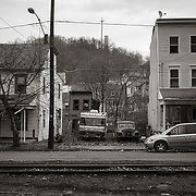 RV, Rail line and Houses, Shamokin, PA