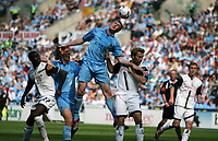 Photo: Rich Eaton.<br /> <br /> Coventry City v Preston North End. Coca Cola Championship. 14/04/2007. Coventrys Kevin Kyle jumps highest but can't score from this header
