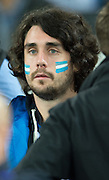 London, Great Britain. Argentinean  supporter, with painted face. South Africa vs Argentina. 2015 Rugby World Cup, Bronze Medal Match.Queen Elizabeth Olympic Park. Stadium, Stratford. East London. England,, Friday  30/10/2015. <br /> [Mandatory Credit; Peter Spurrier/Intersport-images]
