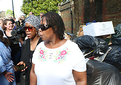 """London,UK Friday 16th June 2017 Grenfell fire protesters boo Theresa May's car as she leaves church<br /> Shocking scenes as Theresa May bundled into a car by police amid fury Theresa May leaves church to shouts of """"coward""""<br /> She did not address the crowd, but quickly left amid shouts of """"coward"""".©UKNIP"""