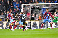 Billy Clarke of Bradford City (17) scores a goal to make the score 0-1 during the EFL Sky Bet League 1 match between Scunthorpe United and Bradford City at Glanford Park, Scunthorpe, England on 27 April 2019.