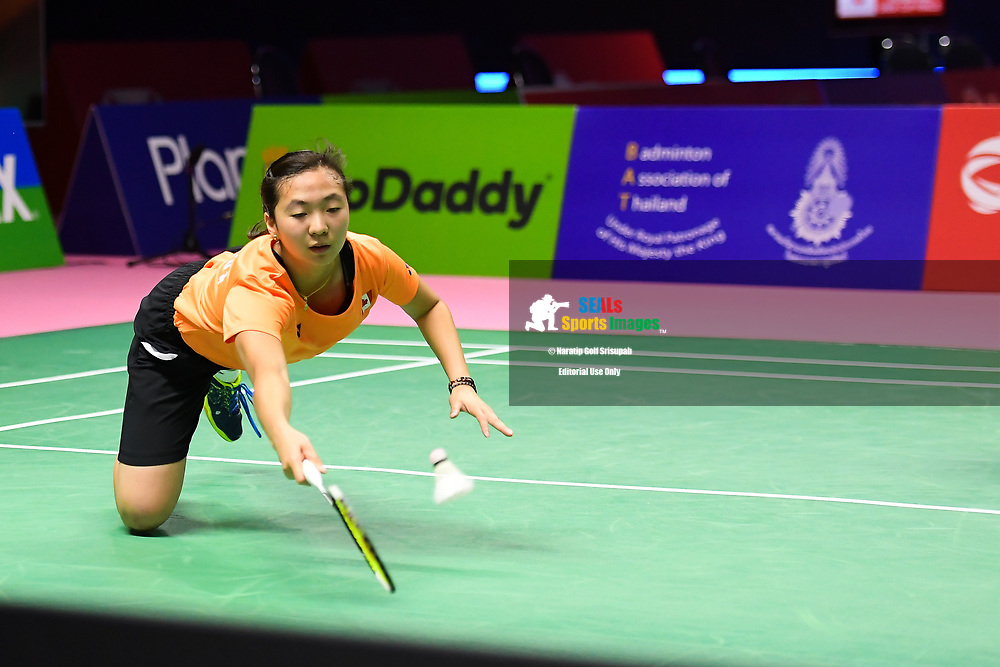 BANGKOK, THAILAND - MAY 24: Catherine Choi and Michelle Tong of Canada in action on Court 2 during their Quarter Finals match against Baek Ha Na and Lee Yu Lim of South Korea at the BWF Total Thomas and Uber Cup Finals 2018, Impact Arena, Bangkok, Thailand on May 24, 2018.<br /> .<br /> .<br /> .<br /> (Photo by: Naratip Golf Srisupab/SEALs Sports Images)<br /> .<br /> Any image use must include a mandatory credit line adjacent to the content which should read: Naratip Golf Srisupab/SEALs Sports Images